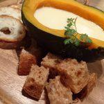 『かぼちゃのチーズフォンデュ/カフェぶりこ』